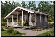 Фото: одноэтажный дома из бруса