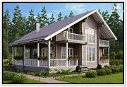 Проект дом из бруса 16 на 13