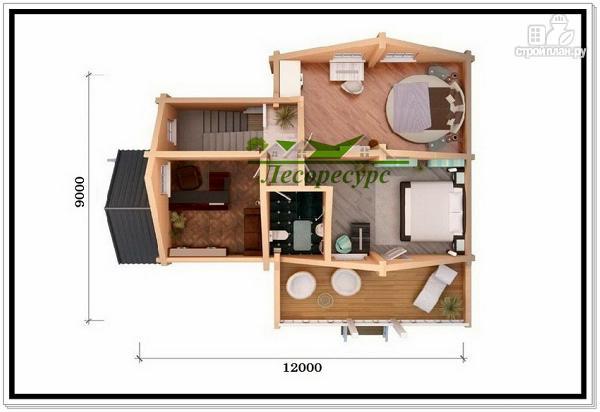 Фото 6: проект деревянный дом 9 на 12