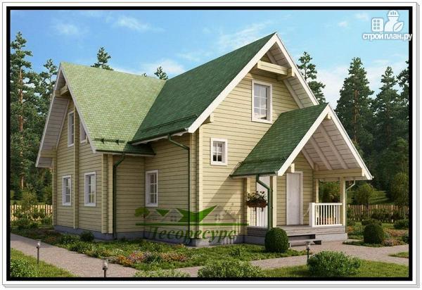 Фото 3: проект деревянный дом 9 на 12