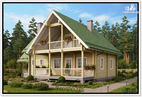 Фото: проект деревянный дом 9 на 12