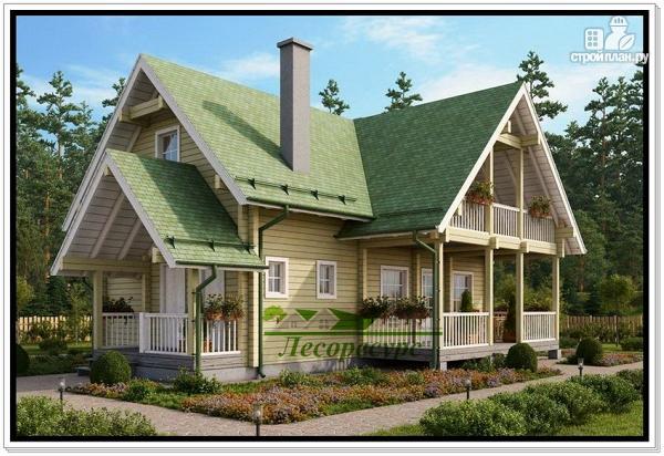 Фото 2: проект деревянный дом 9 на 12
