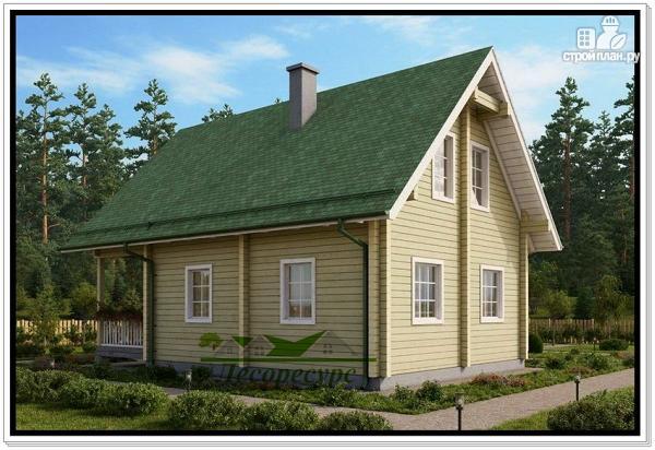 Фото 4: проект деревянный дом 9 на 12