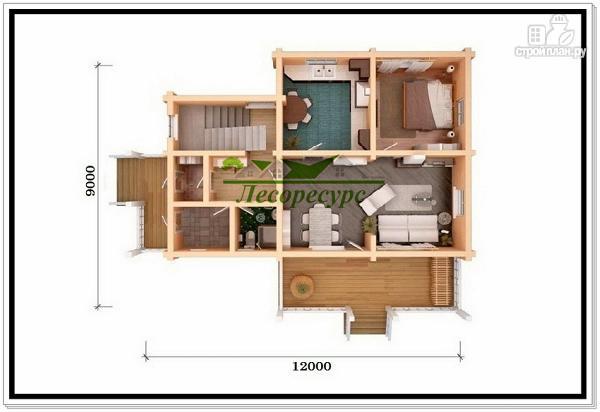 Фото 5: проект деревянный дом 9 на 12