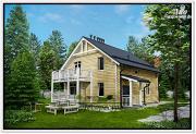Фото: дом из бруса с котельной