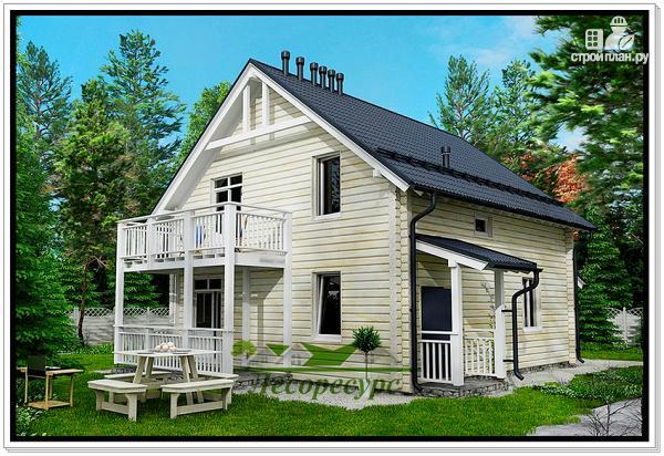 Фото 2: проект дом из бруса с котельной