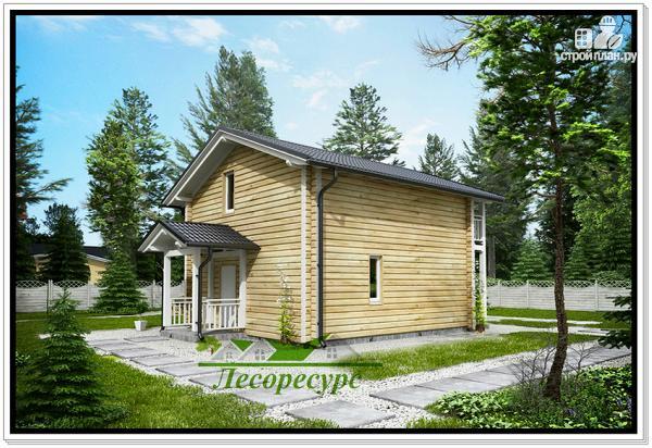 Фото 3: проект загородный деревянный дом