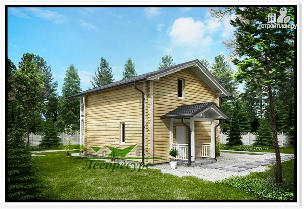 Фото 4: проект загородный деревянный дом