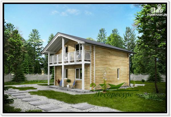 Фото 2: проект загородный деревянный дом