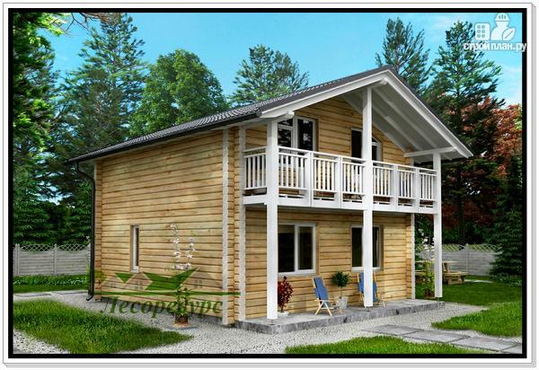 Фото: проект загородный деревянный дом