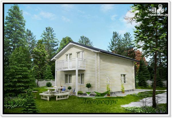 Фото 3: проект дом из бруса 6х8