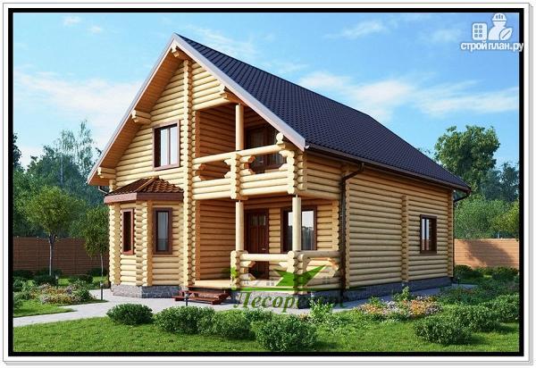 Фото: проект частный дом из бревна