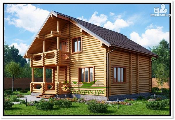 Фото: проект бревенчатый дом