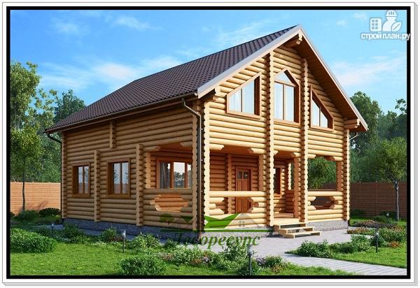 Фото: проект загородный дом из бревна