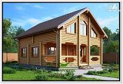 Фото: загородный дом из бревна