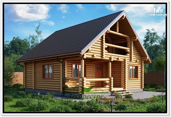 Фото: проект деревянный дом из бревна