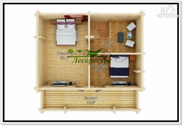 Фото 3: проект деревянный дом из бревна