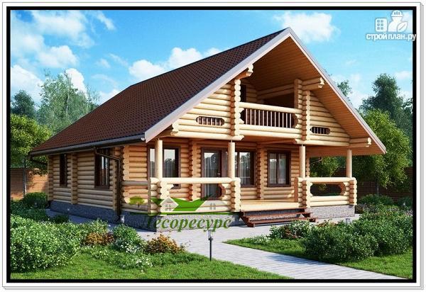 Фото: проект дачный дом из бревна