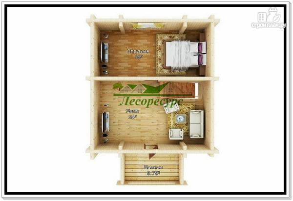 Фото 3: проект дачный дом из бревна