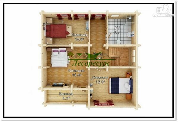 Фото 3: проект рубленый дом