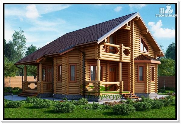 Фото: проект рубленый дом
