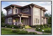 Фото: красивый дом из бревна