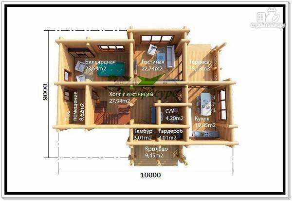 Фото 2: проект красивый дом из бревна