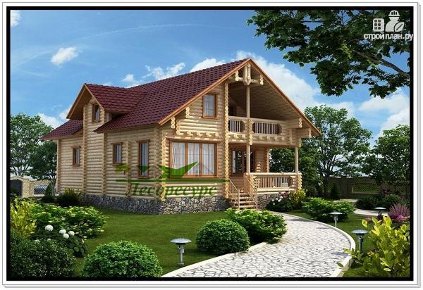Фото: проект сруб дома из бревна