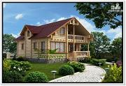 Фото: сруб дома из бревна