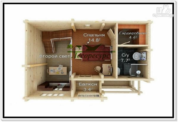 Фото 3: проект бревенчатый дом