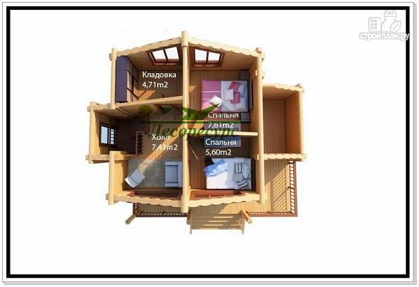 Фото 3: проект небольшой дом из бревна