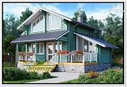 Фото: небольшой дом из бревна