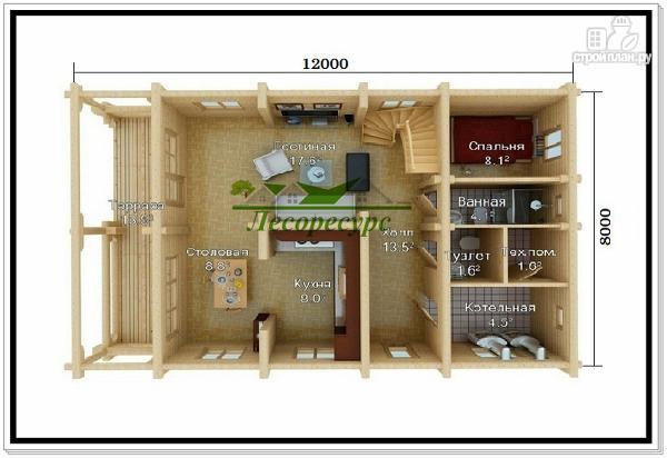 Фото 2: проект дом из бревна ручной рубки