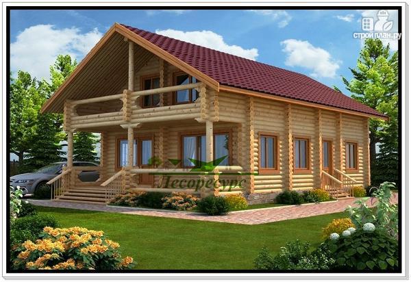 Фото: проект дом из бревна ручной рубки