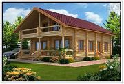 Проект дом из бревна ручной рубки