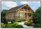 Фото: двухэтажный дом из бревна