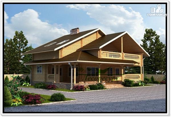 Фото: проект дом из бревен с мансардой