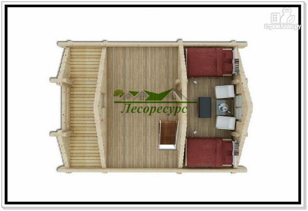 Фото 3: проект современный дом из бревна