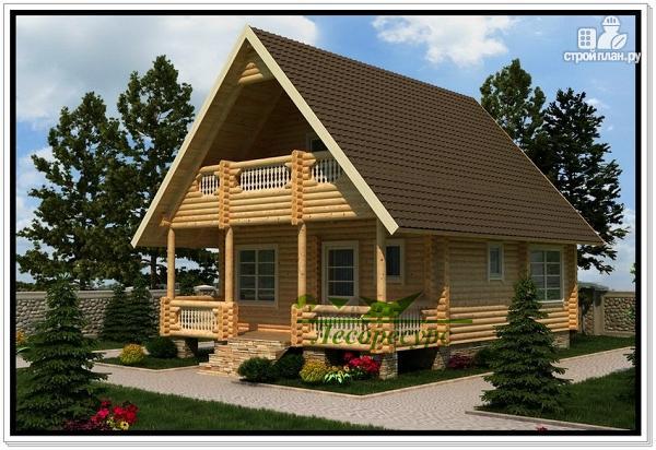 Фото: проект садовый дом из бревна