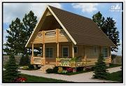 Фото: садовый дом из бревна