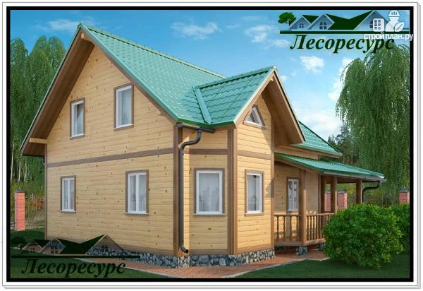 Фото 2: проект небольшой каркасный дом