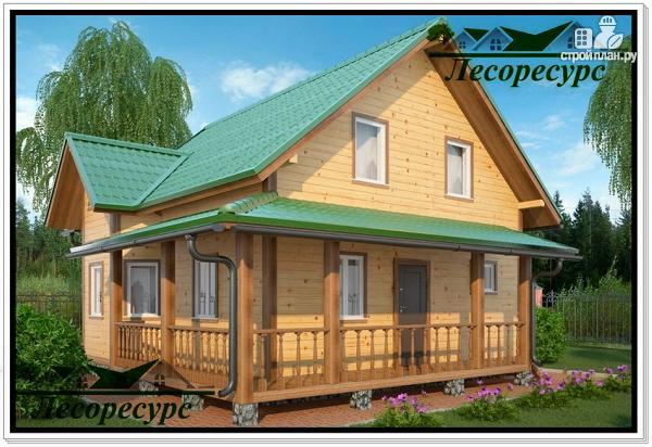 Фото: проект небольшой каркасный дом