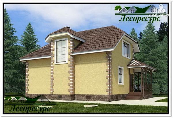 Фото 2: проект каркасный дом с террасой