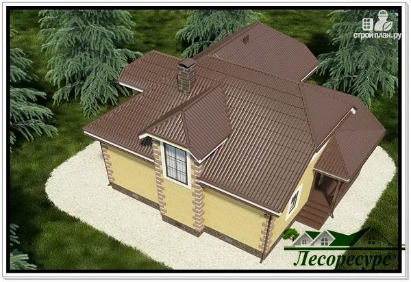 Фото 6: проект каркасный дом с террасой