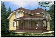 Фото: каркасный дом с террасой