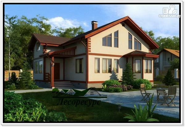 Фото: проект большой каркасный дом