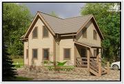 Проект каркасный дом 8 на 8