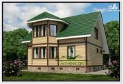 Проект загородный каркасный дом