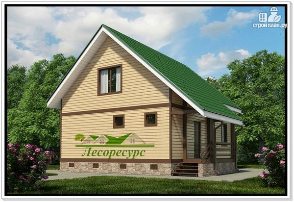 Фото 2: проект загородный каркасный дом