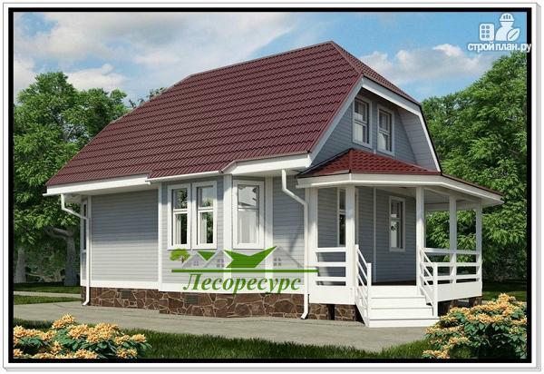 Фото 3: проект каркасный дом с верандой